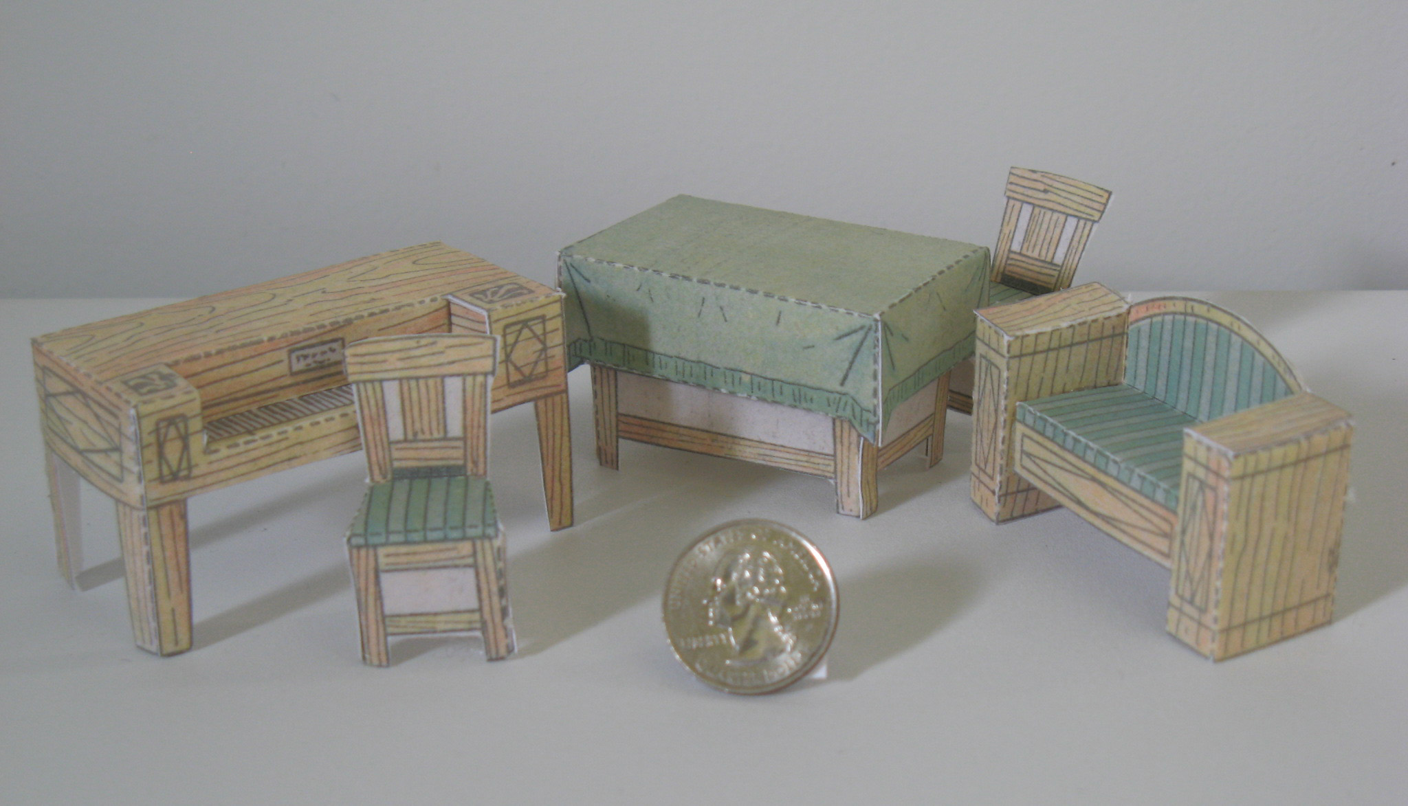 Paper model dollhouse for How to make a dresser out of cardboard
