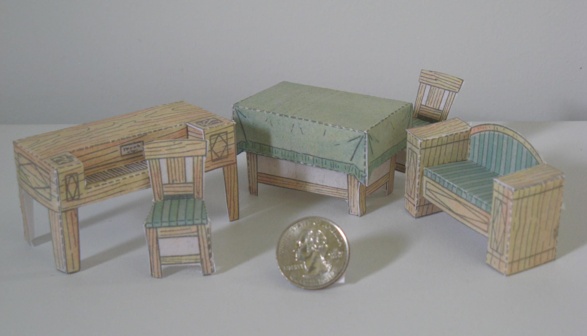 Paper Model Dollhouse