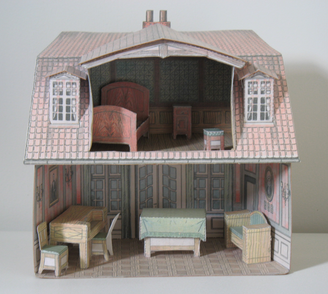 Paper model dollhouse for Building model houses