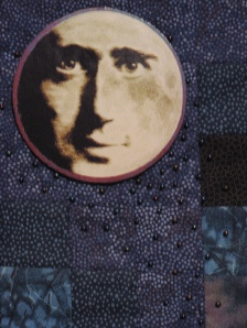 man in the moon quilt detail