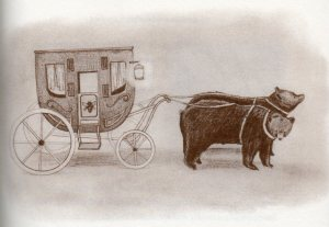 bear-drawn carriage