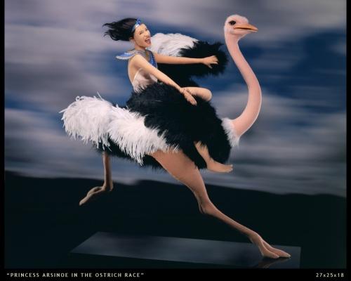 princess arsinoe in the ostrich race