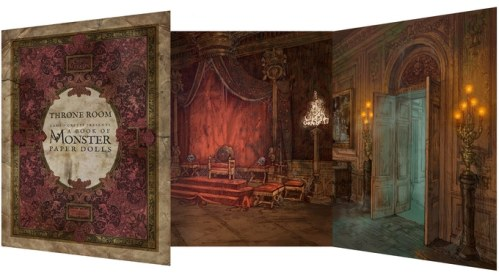 monster book of paperdolls throne room set